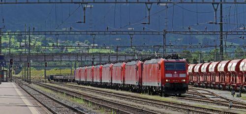 switzerland gotthard train station in erstfeld