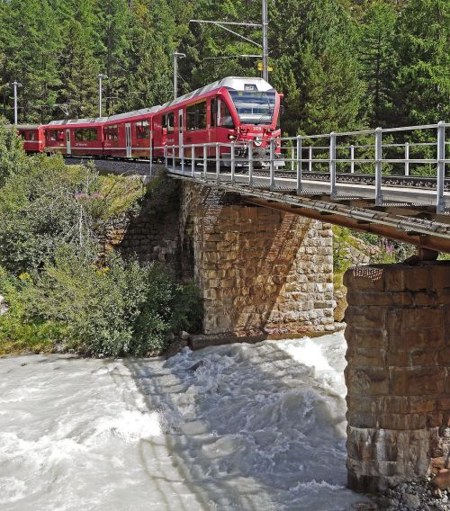 switzerland bernina railway bridge