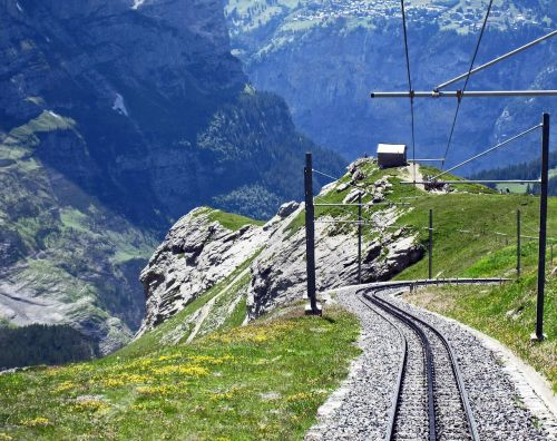 switzerland jungfrau railway descent