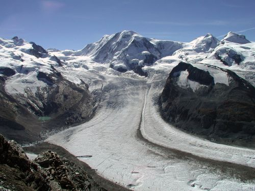 switzerland glacier frozen