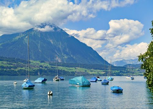 switzerland thun mountain