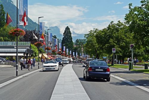 switzerland interlaken main road