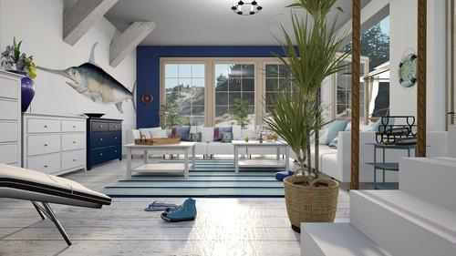 swordfish  cottage  the interior of the