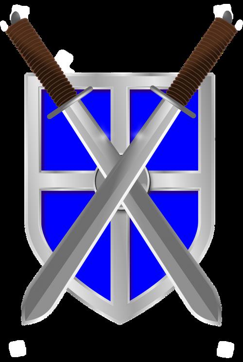 swords shield crossed