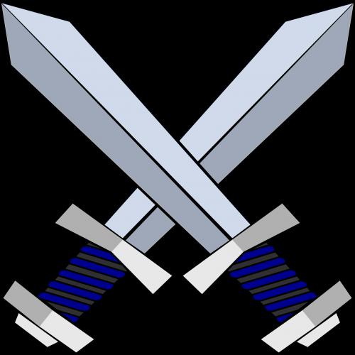 swords daggers crossed