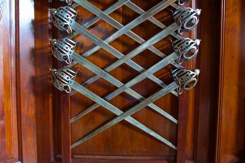 Swords Hang In Pattern