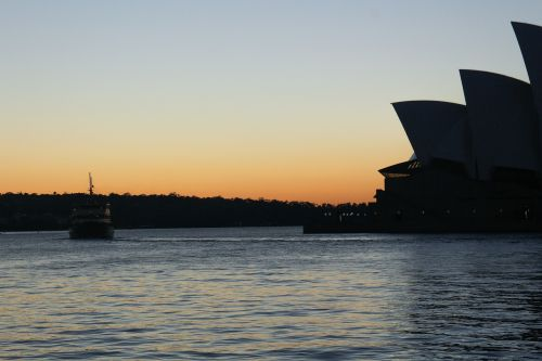 sydney opera house sydney silhouette