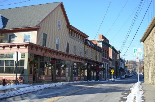 sykesville main street winter