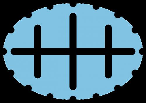 symbol black blue