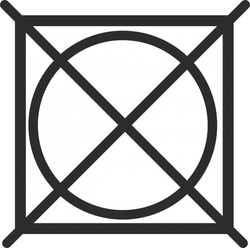 symbol of drying treatment in dryer do not dry items