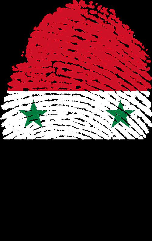 syria flag fingerprint