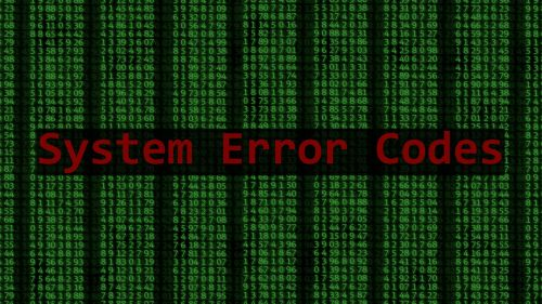 system error codes database system