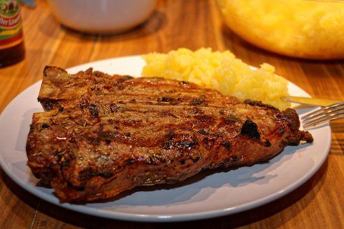 t-bone steak meat