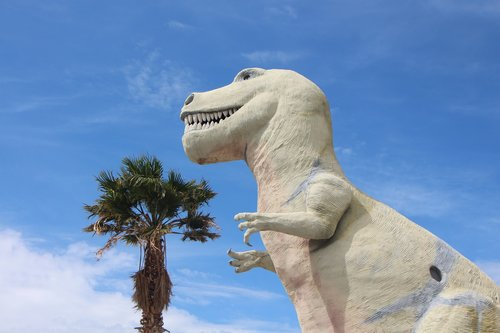 t-rex  dinosaur  palm springs