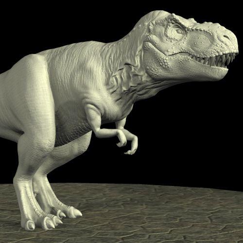 T-rex On Black Background