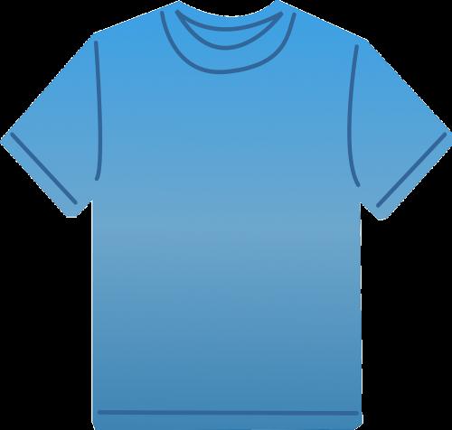 t-shirt blue clothes