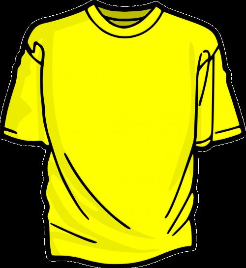 t-shirt clothing yellow
