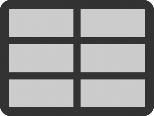table rows rectangles