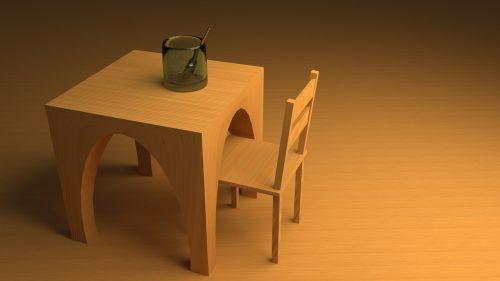 table cgi wood