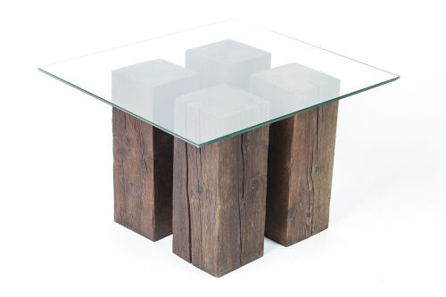 table glass timber