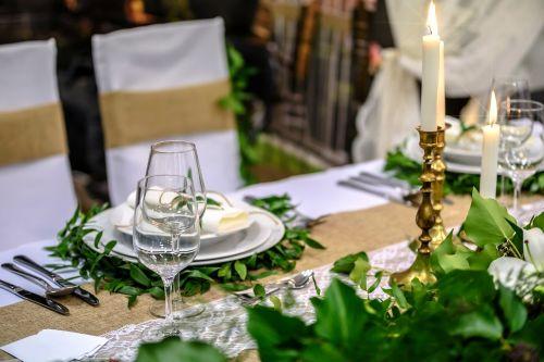 table setup napkin