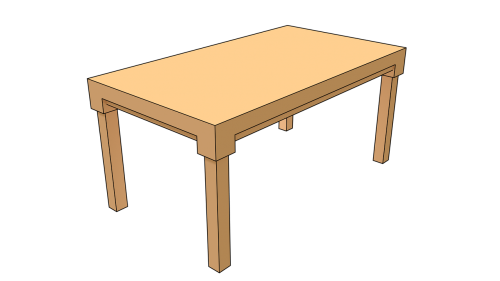 table brown wooden