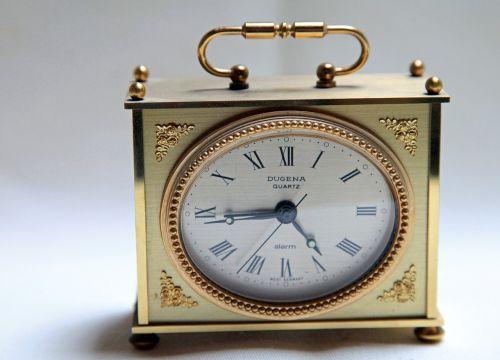 table clock clock golden