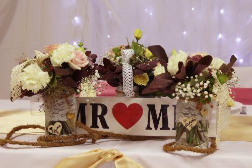 table decoration rose romanticism
