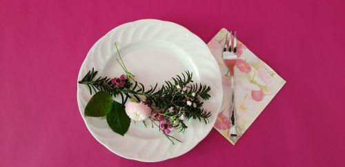table decoration flower belli pink