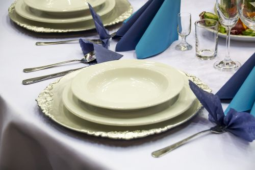 table setting cutlery catering