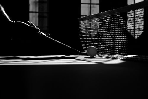 table tennis monochrome sport
