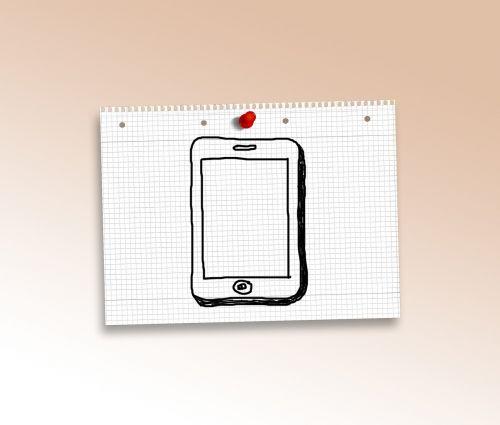 tablet computer doodle