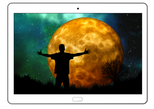 tablet moon man