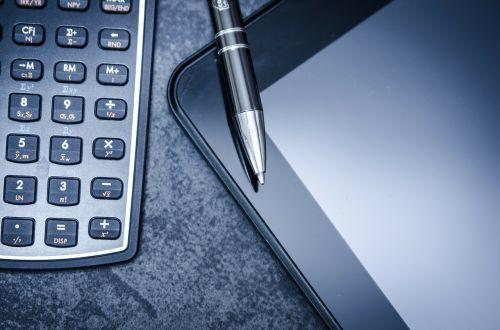 tablėtė,skaičiuotuvas,verslas,rašiklis