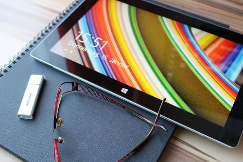 tablet touch screen reading glasses
