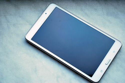 tablet screen white tablet