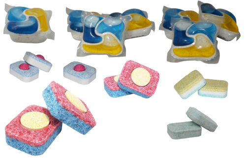 tablets for dishwashing machine capsules for the dishwasher chemistry