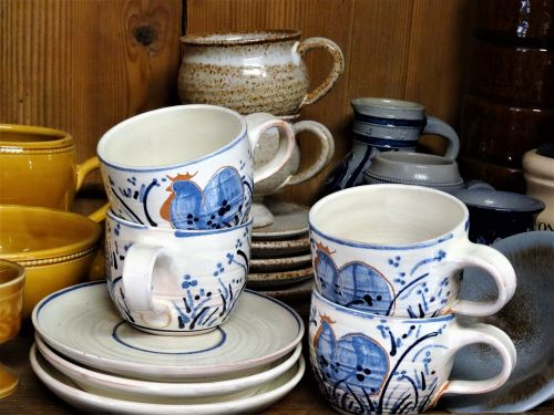 tableware nostalgic old dishes