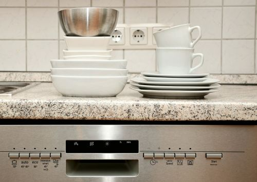 tableware dishwasher kitchen