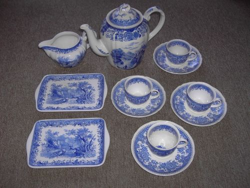 tableware coffee blue