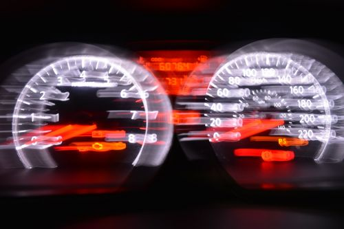 tachometer speed moved