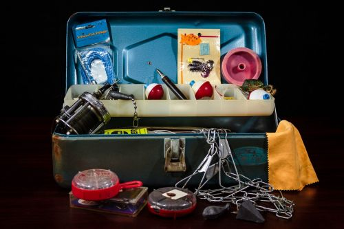 tackle box fishing supplies fishing gear