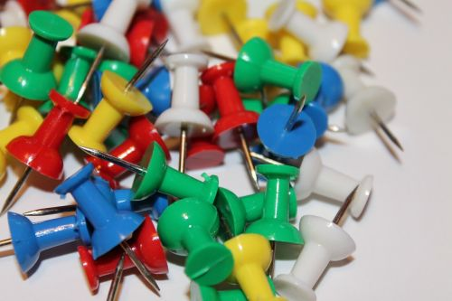 tacks wall needle office