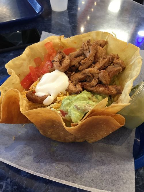 taco salad mexican lunch