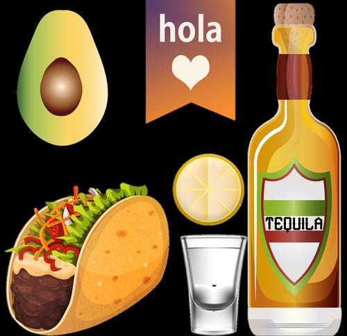 taco tuesday  tequila  avocado