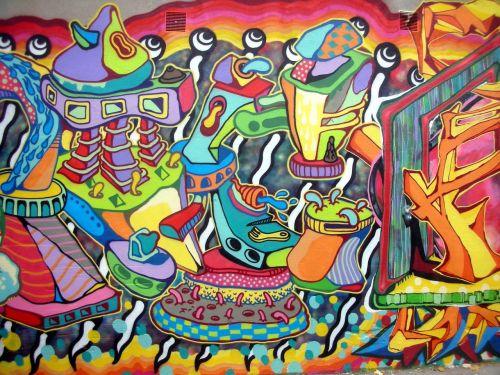 tag street art mural