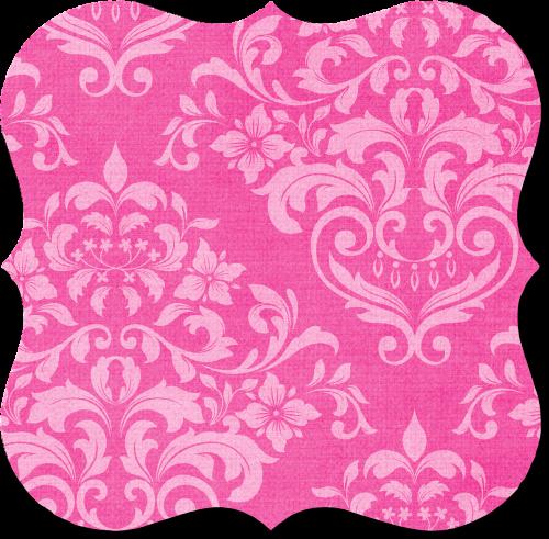tag pink damask