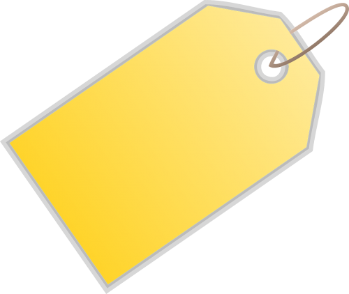 tag label yellow