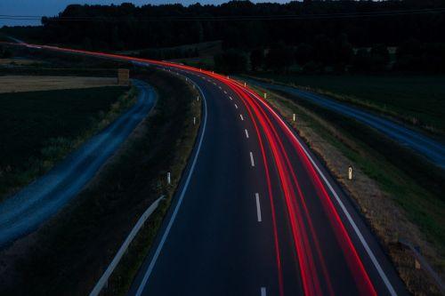 taillights night traffic