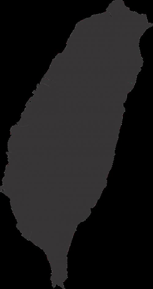 taiwan map silhouette